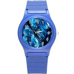 Blue Wave Round Plastic Sport Watch (S)