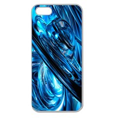 Blue Wave Apple Seamless iPhone 5 Case (Clear)