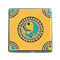 Madhubani Fish Indian Ethnic Pattern Memory Card Reader (square)