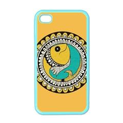 Madhubani Fish Indian Ethnic Pattern Apple iPhone 4 Case (Color)