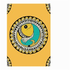 Madhubani Fish Indian Ethnic Pattern Small Garden Flag (two Sides)