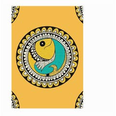Madhubani Fish Indian Ethnic Pattern Large Garden Flag (two Sides)