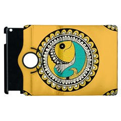 Madhubani Fish Indian Ethnic Pattern Apple Ipad 2 Flip 360 Case