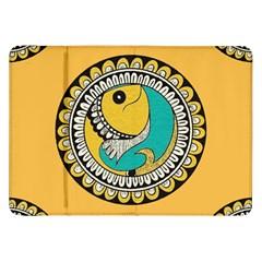 Madhubani Fish Indian Ethnic Pattern Samsung Galaxy Tab 8.9  P7300 Flip Case
