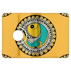 Madhubani Fish Indian Ethnic Pattern Kindle Fire Hdx Flip 360 Case