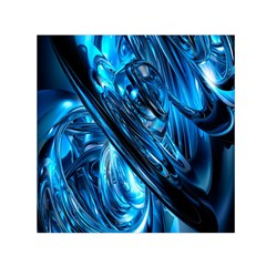 Blue Wave Small Satin Scarf (Square)