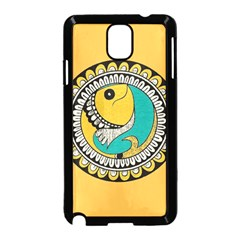 Madhubani Fish Indian Ethnic Pattern Samsung Galaxy Note 3 Neo Hardshell Case (black)