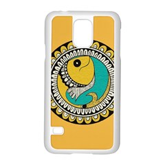 Madhubani Fish Indian Ethnic Pattern Samsung Galaxy S5 Case (White)