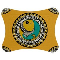 Madhubani Fish Indian Ethnic Pattern Jigsaw Puzzle Photo Stand (Bow)