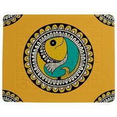 Madhubani Fish Indian Ethnic Pattern Jigsaw Puzzle Photo Stand (Rectangular)