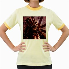 Fantasy Art Legend Of The Five Rings Steve Argyle Fantasy Girls Women s Fitted Ringer T-Shirts