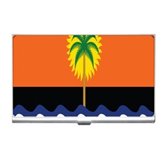Coconut Tree Wave Water Sun Sea Orange Blue White Yellow Green Business Card Holders