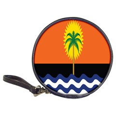 Coconut Tree Wave Water Sun Sea Orange Blue White Yellow Green Classic 20-CD Wallets