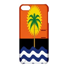Coconut Tree Wave Water Sun Sea Orange Blue White Yellow Green Apple Ipod Touch 5 Hardshell Case With Stand