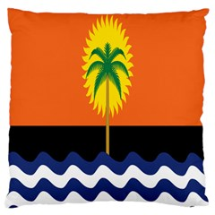 Coconut Tree Wave Water Sun Sea Orange Blue White Yellow Green Standard Flano Cushion Case (Two Sides)