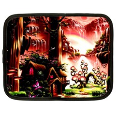 Fantasy Art Story Lodge Girl Rabbits Flowers Netbook Case (xl)