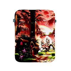 Fantasy Art Story Lodge Girl Rabbits Flowers Apple iPad 2/3/4 Protective Soft Cases