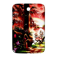 Fantasy Art Story Lodge Girl Rabbits Flowers Samsung Galaxy Note 8.0 N5100 Hardshell Case