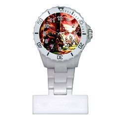 Fantasy Art Story Lodge Girl Rabbits Flowers Plastic Nurses Watch