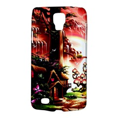 Fantasy Art Story Lodge Girl Rabbits Flowers Galaxy S4 Active