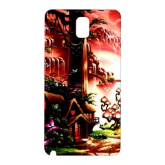 Fantasy Art Story Lodge Girl Rabbits Flowers Samsung Galaxy Note 3 N9005 Hardshell Back Case
