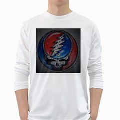 Grateful Dead Logo White Long Sleeve T-Shirts