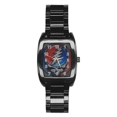 Grateful Dead Logo Stainless Steel Barrel Watch