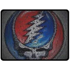 Grateful Dead Logo Double Sided Fleece Blanket (Large)