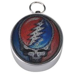 Grateful Dead Logo Silver Compasses