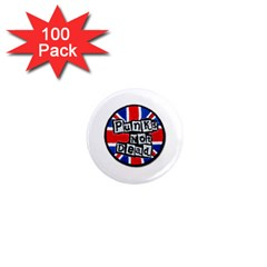 Punk Not Dead Music Rock Uk Flag 1  Mini Magnets (100 pack)