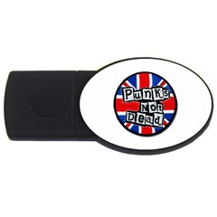 Punk Not Dead Music Rock Uk Flag USB Flash Drive Oval (2 GB)