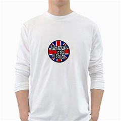 Punk Not Dead Music Rock Uk Flag White Long Sleeve T-Shirts