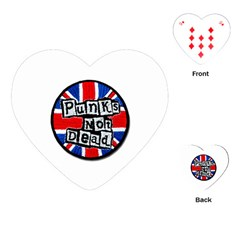 Punk Not Dead Music Rock Uk Flag Playing Cards (Heart)