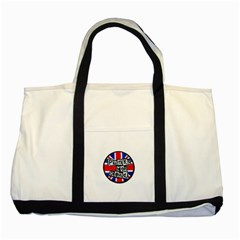 Punk Not Dead Music Rock Uk Flag Two Tone Tote Bag