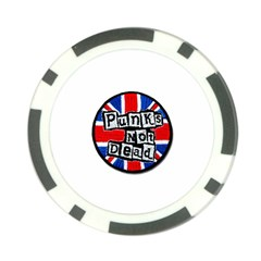 Punk Not Dead Music Rock Uk Flag Poker Chip Card Guard (10 pack)