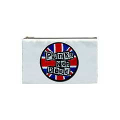 Punk Not Dead Music Rock Uk Flag Cosmetic Bag (small)