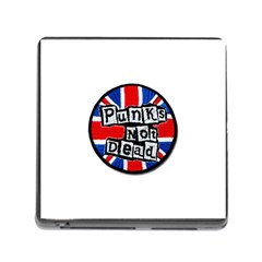 Punk Not Dead Music Rock Uk Flag Memory Card Reader (square)