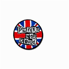 Punk Not Dead Music Rock Uk Flag Small Garden Flag (two Sides)