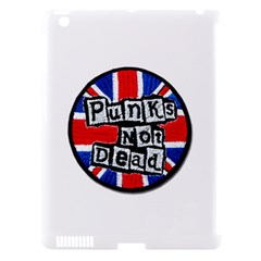 Punk Not Dead Music Rock Uk Flag Apple iPad 3/4 Hardshell Case (Compatible with Smart Cover)