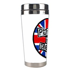 Punk Not Dead Music Rock Uk Flag Stainless Steel Travel Tumblers