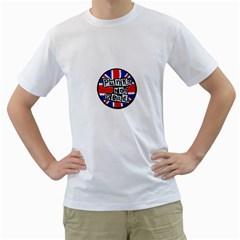 Punk Not Dead Music Rock Uk Flag Men s T-Shirt (White)