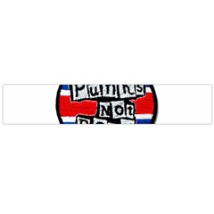 Punk Not Dead Music Rock Uk Flag Flano Scarf (large)