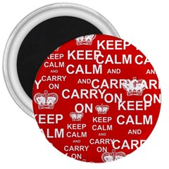 Keep Calm And Carry On 3  Magnets