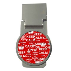 Keep Calm And Carry On Money Clips (Round)