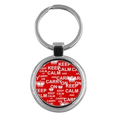 Keep Calm And Carry On Key Chains (round)