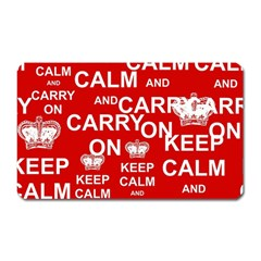 Keep Calm And Carry On Magnet (Rectangular)