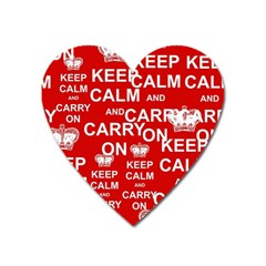 Keep Calm And Carry On Heart Magnet