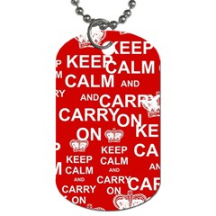 Keep Calm And Carry On Dog Tag (One Side)