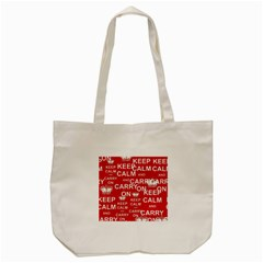 Keep Calm And Carry On Tote Bag (Cream)