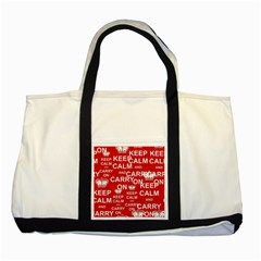 Keep Calm And Carry On Two Tone Tote Bag
